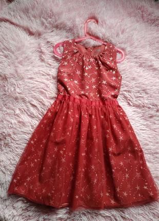 Платье в звезды hema новое девочка 8-9 лет(128-134см)