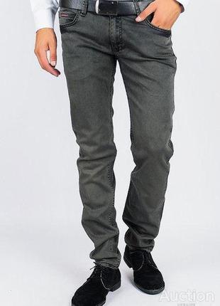 Серые мужские джинсы скинны  uk36r