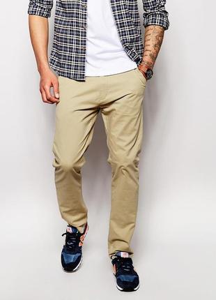 Britichindia/мужские бежевые брюки чиносы
