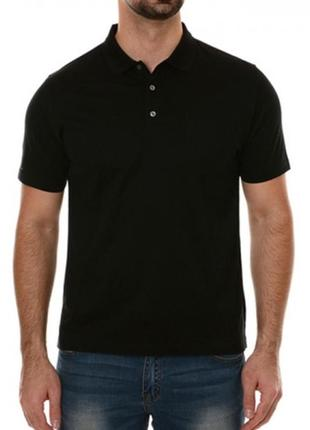 Blue ocean/мужская черная футболка поло