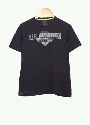 Мужская темно-серая футболка из коттона
