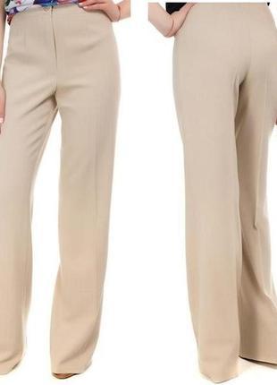 Стильные бежевые брюки, высокая посадка