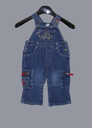 Baby club/стильный джинсовый комбинезон на мальчика 2-3 года