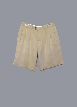 Cutter&back/летние бежевые шорты-бермуды со складками