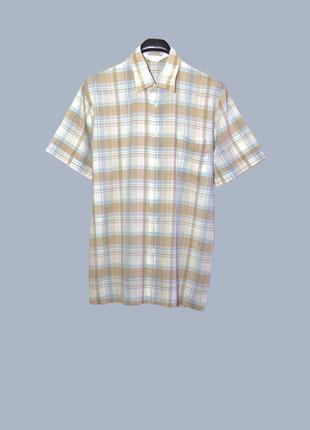 Мужская летняя рубашка/тенниска в клетку