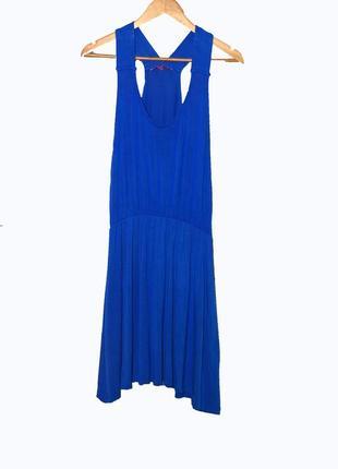 Летнее трикотажное  платье/сарафан из вискозы. цвет синий элек...