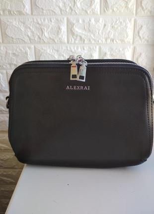 Женская кожаная сумка жіноча шкіряна сумка чорна