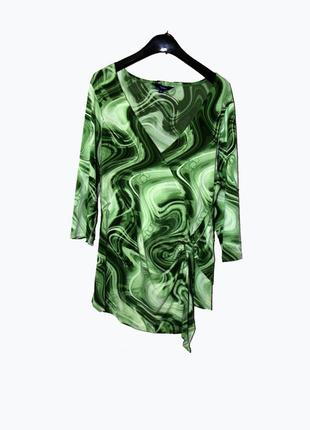 Reitmans/брендовая асимметричная зеленая блуза