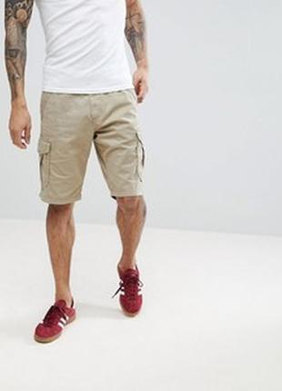 Мужские хлопковые шорты-карго