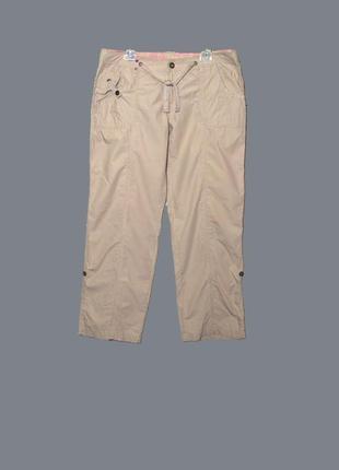 Женские бежевые штаны/брюки в спортивном стиле uk16