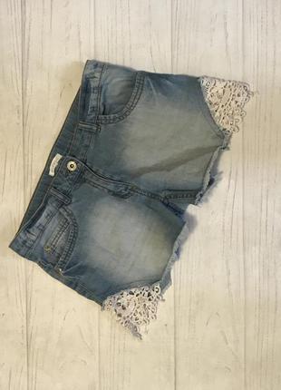 Шорты джинсовые кружево от bluezoo