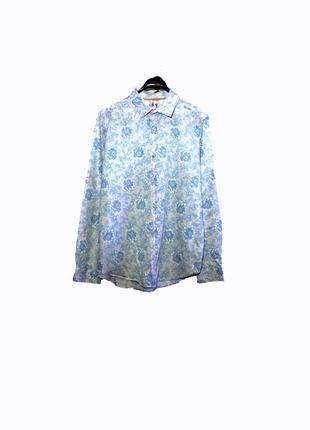 Стильная мужская рубашка в цветочный принт