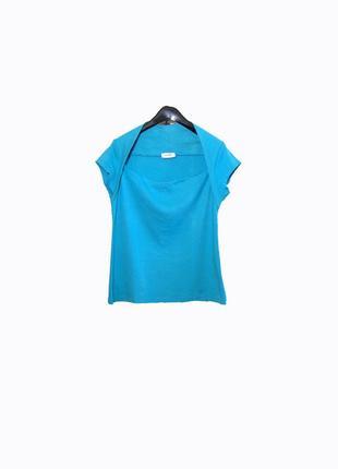 Стильная футболка/болеро-майка голубая