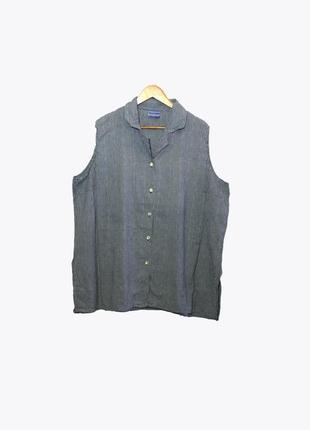 Женская рубашка-безрукавка в клетку большого размера 62-64 раз...