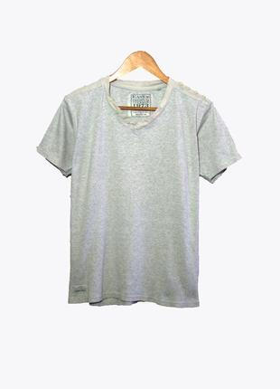 Premium vintage / мужская серая футболка в рубчик
