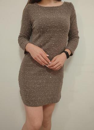 Красивенное платье туника хаки