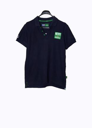 Темно-синяя мужская футболка-поло