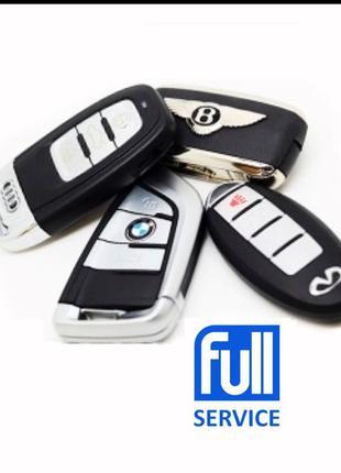 Изготовление авто, автомобильных ключей,пропись ключа,дубликат на