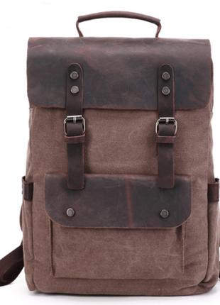 Городской классический рюкзак ренцель цвет кофе