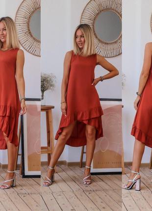 Очень лёгкое платье свободного кроя 2 цвета Размеры: S,M,L,XL,XXL