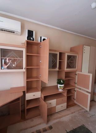 СТЕНКА недорого(шкаф,тумбы,стол,комод,кровать с матрасом,диван)