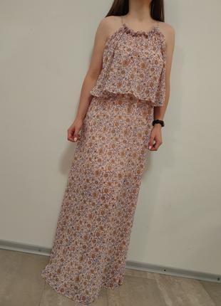 Шикарное платье в пол коллекции H&M Conscious платье макси