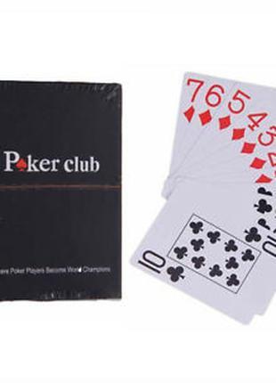 Пластиковые игральные покерные карты Poker Club