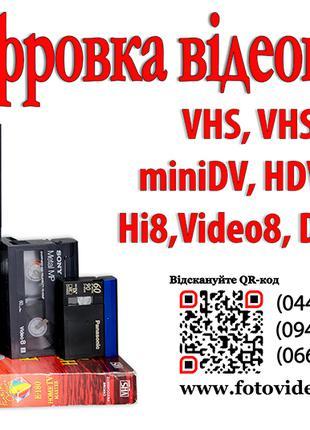 Оцифровка видеокассет  miniDV, HDV, DV,Video8,Hi8,Digital8.
