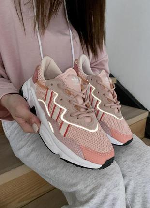 Adidas ozweego шикарные женские кроссовки адидас розового цвет...