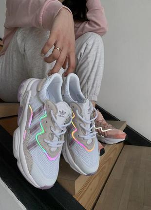 Adidas ozweego шикарные женские кроссовки адидас белого цвета ...