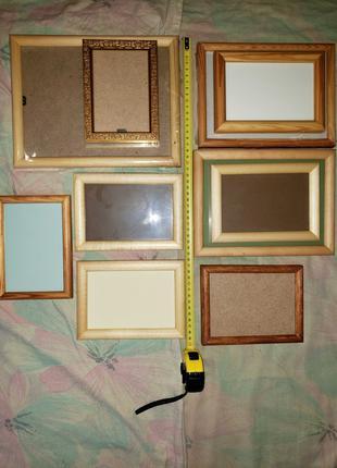 Рамки для фото картин Дерево стекло задник Деревянные качественно
