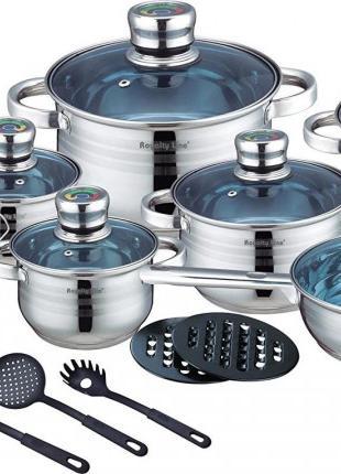 Набор посуды Royalty Line RL-1801B 18шт
