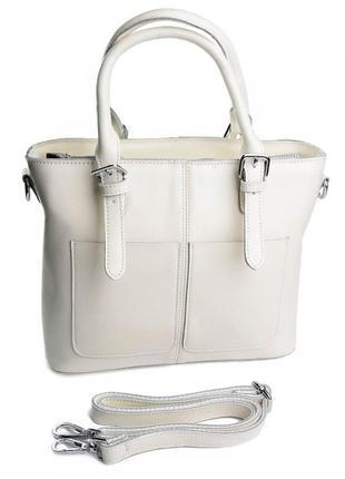 Женская кожаная сумка большая жіноча шкіряна