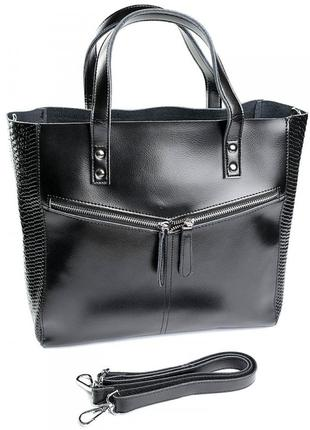 Велика жіноча шкіряна сумка большая женская кожаная сумка.