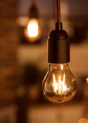 Лампа светодиодная Эдисона Philips LED Gold 7.5W E27 2200K A60...