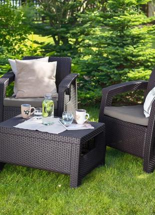 Комплект садовой мебели Keter Corfu Weekend Set