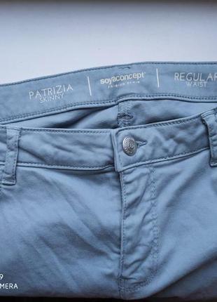 Легкие скинни штаны джинсы высокая посадка