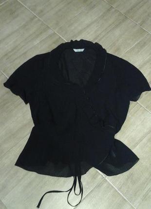 Блузка marks&spencer из прозрачной ткани
