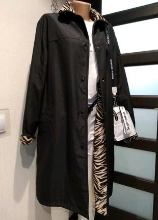 Стильный двусторонний плащ трэнч пальто