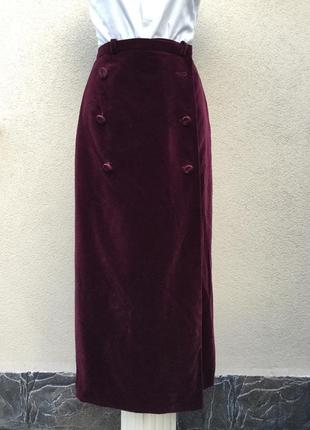 Винтаж,бархат,велюр юбка на запах,люкс бренд,оригинал valentino