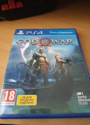 God of war диск PS 4