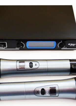 База 2 радиомикрофона Радиосистема Max DH-769