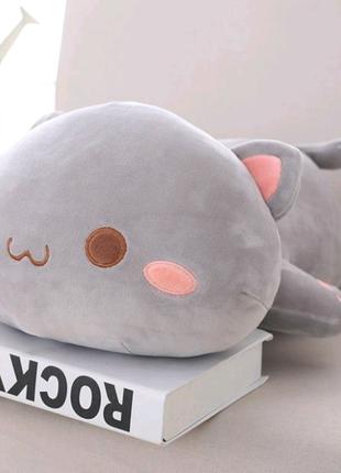 Новая мягкая игрушка подушка котик 50 см кот кошка