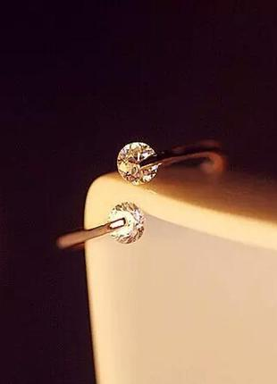 Интересное оригинальное кольцо колечко каблучка кубические цир...