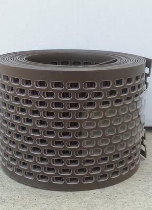 Карнизная решетка лента свеса ПВХ 80*5000 коричневая