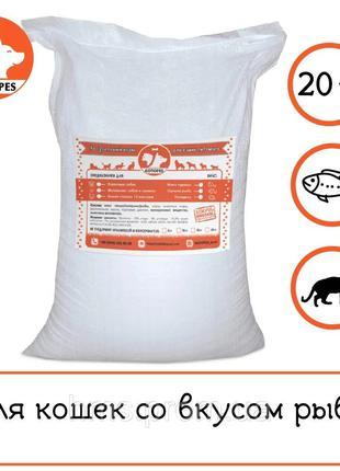 Эконом корм сухой для котов и кошек дешевая цена 20 кг с рыбой