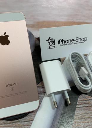 Скидка! iPhone SE 16гб Rose Gold NEVERLOCK комплект,гарантия.