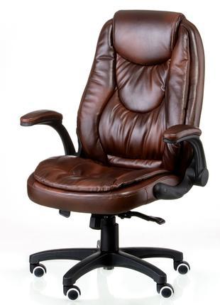 Кресло руководителя офисное Oskar brown/black