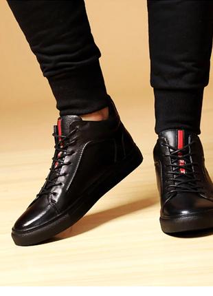 Зимние ботинки из натуральной кожи,модные повседневные. 45 размер