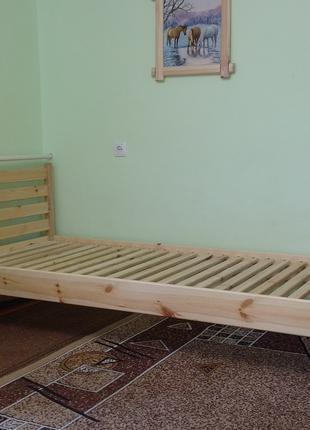 Ліжко дерев'яне, кровать деревянная. Без викрутасів, версія 1.5